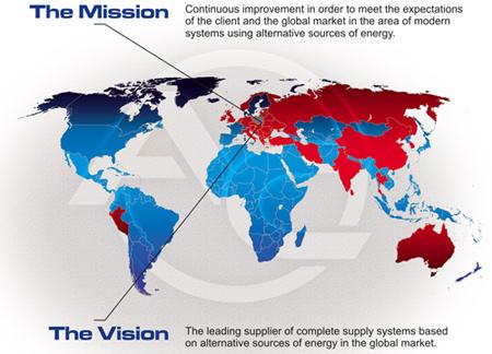 Mapa AC ve světě